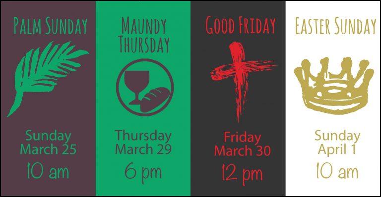 Holy Week Events 2018